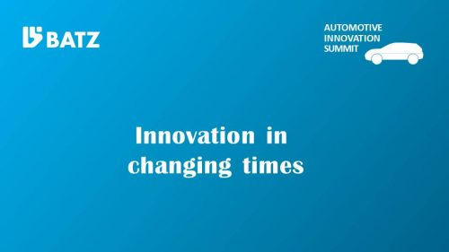 Innovation in changing times