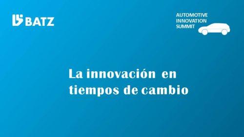La innovación en tiempos de cambio